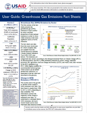 User Guide: GHG Emissions Factsheets