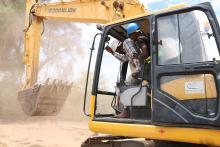Excavator in Kenya