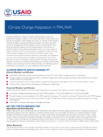 Climate Change Adaptation in Malawi Fact Sheet Thumbnail