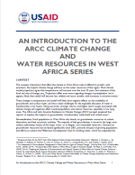 An Introduction to the ARCC Climate Change and Water Resources in West Africa Series
